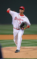 April 13, 2009: RHP Yeiper Castillo (34) of the Greenville Drive on the team's 2009 home opener against the Hickory Crawdads at Fluor Field at the West End in Greenville, S.C. Photo by: Tom Priddy/Four Seam Images