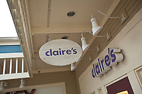 A Claire's store is pictured at the Settlers' Green Outlet Village in North Conway, New Hampshire Thursday June 13, 2013.