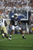 15 September 2012:  Penn State LB Gerald Hodges (6). The Penn State Nittany Lions defeated the Navy Midshipmen 34-7 at Beaver Stadium in State College, PA..