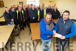 Johnny Sheehan, Monavalley, Tralee, retires from Kerry County Council with a presentation from Chris Shortt, and work Colleagues on Monday