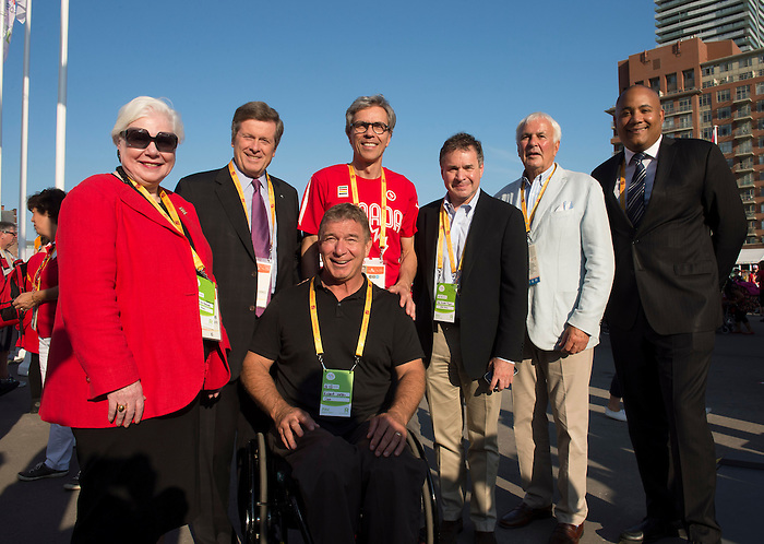 TORONTO, ON, AUGUST 6, 2015. The ParaPan Am Games are set to begin - the Canadian team rally and flag raising ceremony. Photo: Dan Galbraith/Canadian Paralympic Committee