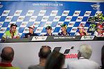 gp mugello (italia)<br /> press conference with the riders<br /> anillo petrucci<br /> marc marquez<br /> jorge lorenzo<br /> valentino rossi<br /> andrea dovizioso<br /> andrea iannone
