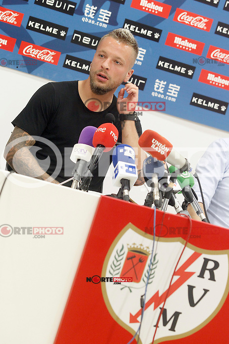 Rayo Vallecano's new player Patrick Ebert during his official presentation. August 04, 2015. (ALTERPHOTOS/Acero)
