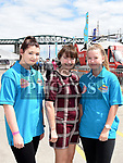 Sophie Mooney, Camille Grace and Anna Gaspuite at the Drogheda Maratime Festival. Photo:Colin Bell/pressphotos.ie