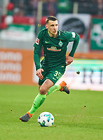 Maximilian EGGESTEIN, BRE 35 <br /> FC AUGSBURG -  SV WERDER BREMEN  1-3<br /> Football 1. Bundesliga , Augsburg,17.03.2018, 27. match day,  2017/2018, 1.Liga, 1.Bundesliga, <br />  *** Local Caption *** © pixathlon<br /> Contact: +49-40-22 63 02 60 , info@pixathlon.de