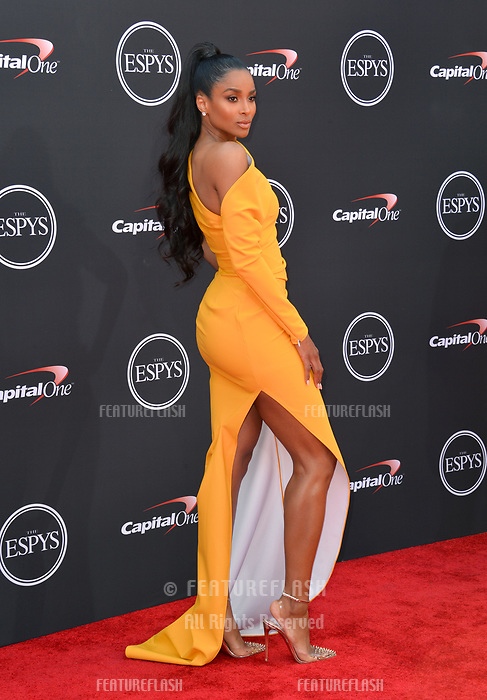 Ciara at the 2018 ESPY Awards at the Microsoft Theatre LA Live, Los Angeles, USA 18 July 2018<br /> Picture: Paul Smith/Featureflash/SilverHub 0208 004 5359 sales@silverhubmedia.com