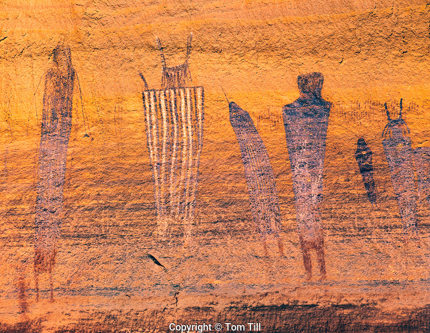 Harvest Scene Rock art Panel, Maze District, Canyonlands National Park, Utah