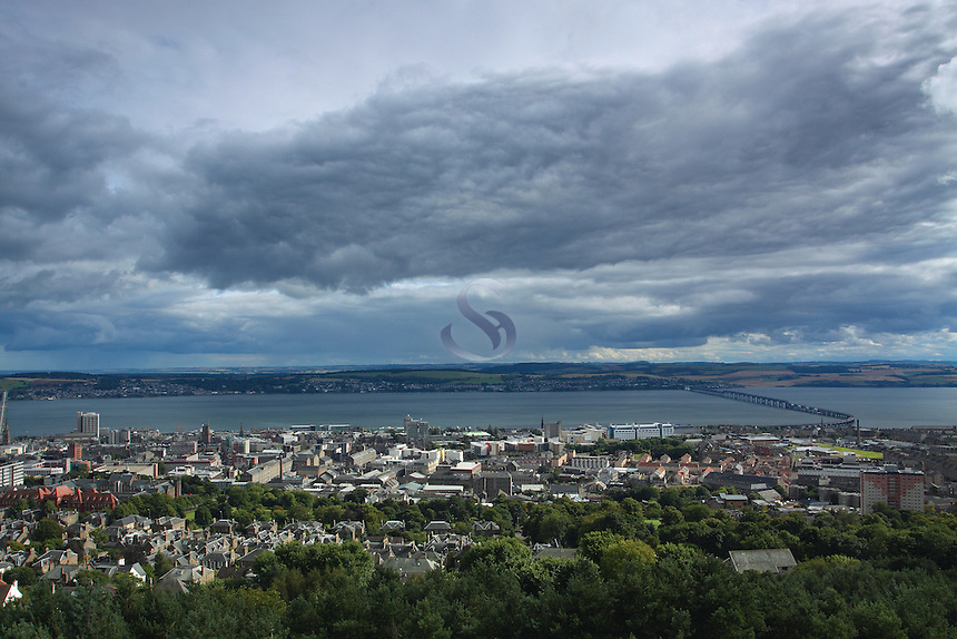 Dundee, The Tay Bridge and the River Tay from The Law, Tayside<br /> <br /> Copyright www.scottishhorizons.co.uk/Keith Fergus 2011 All Rights Reserved