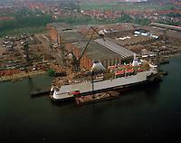 1991. Scheepswerf Boelwerf in Temse.