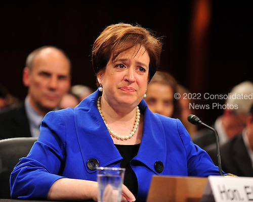 United States Solicitor General Elena Kagan makes opening remarks during her confirmation hearing as Associate Justice of the United States Supreme Court before the U.S. Senate Judiciary Committee in Washington, D.C. on Monday, June 28, 2010..Credit: Ron Sachs / CNP