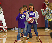 The BAWS! Clinics in the Practice Gym before the Stanford women's basketball  vs Washington State at Maples Pavilion, Stanford, California on March 1, 2014.