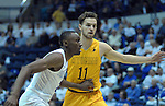 February 4, 2017:  Wyoming guard, Jeremy Lieberman #11, in a full court press again Falcon guard, CJ Siples #2, during the NCAA basketball game between the Wyoming Cowboys and the Air Force Academy Falcons, Clune Arena, U.S. Air Force Academy, Colorado Springs, Colorado.  Wyoming defeats Air Force 83-74.