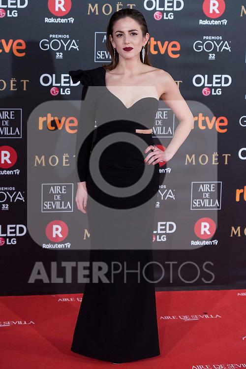 Marina Salas attends red carpet of Goya Cinema Awards 2018 at Madrid Marriott Auditorium in Madrid , Spain. February 03, 2018. (ALTERPHOTOS/Borja B.Hojas)