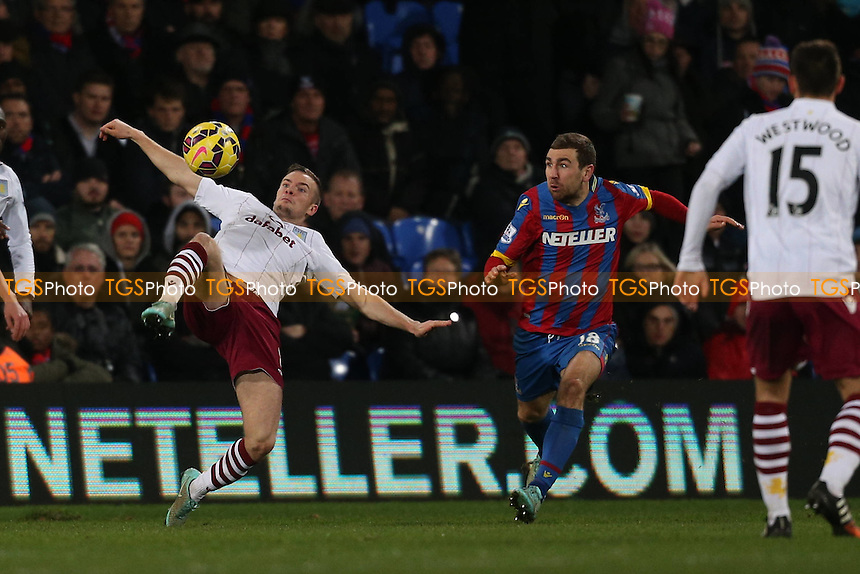 Tom Cleverley of Aston Villa - Crystal Palace vs Aston Villa - Barclays Premier League Football at Selhurst Park, London - 02/12/14 - MANDATORY CREDIT: Simon Roe/TGSPHOTO - Self billing applies where appropriate - contact@tgsphoto.co.uk - NO UNPAID USE