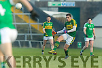 David Moran Kerry in action against  Limerick in the Final of the McGrath Cup at the Gaelic Grounds on Sunday.