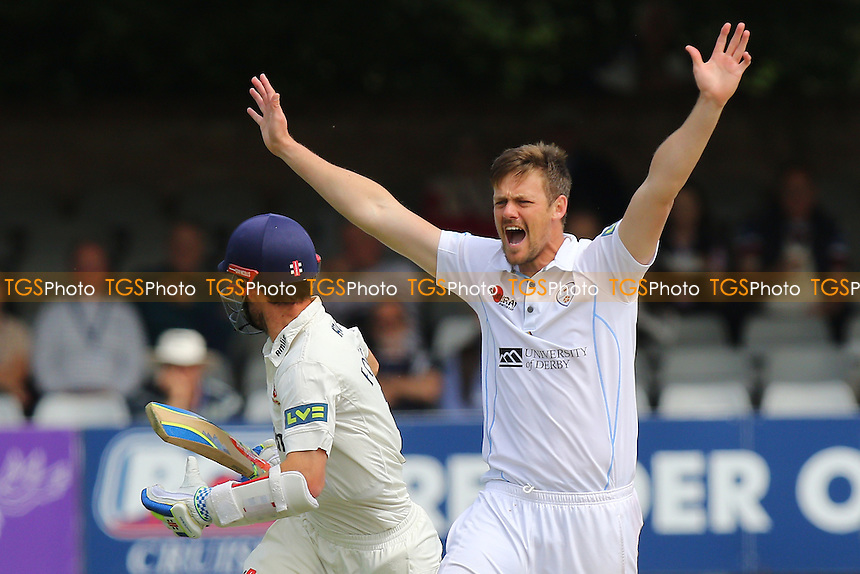 Wayne White of Derbyshire appeals for the wicket of James Foster - Essex CCC vs Derbyshire CCC - LV County Championship Division Two Cricket at the Essex County Ground, Chelmsford, Essex - 16/06/15 - MANDATORY CREDIT: Gavin Ellis/TGSPHOTO - Self billing applies where appropriate - contact@tgsphoto.co.uk - NO UNPAID USE