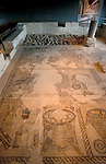 Israel, Lower Galilee, mosaic at the ancient Synagogue of Zippori