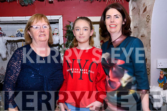 Maura Wallace, Aoife McNamara and Deirdre Wallace (from Ventry) enjoying Nollaig na mBan at The Half Door in Dingle.