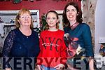 Maura Wallace, Aoife McNamara and Deirdre Wallace (from Ventry) enjoying Nollaig na mBan at The Half Door in Dingle.