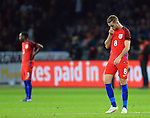 England's Jordan Henderson looks on dejected after going 1-0 down during the International Friendly match at Olympiastadion.  Photo credit should read: David Klein/Sportimage