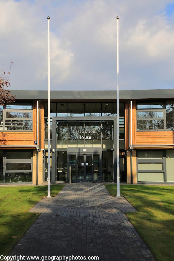 East Suffolk House, Riduna Park, Melton, Suffolk, England, UK new headquarters building for Suffolk Coastal District Council