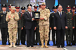 Egyptian President Abdel Fattah al-Sisi attends a conference commemorating the country's martyrs, in Cairo, Egypt on March 15, 2018. Photo by Egyptian President Office