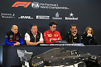 1st November 2019; Circuit of the Americas, Austin, Texas, United States of America; Formula 1 United Sates Grand Prix, practice day; Franz Tost, Team Principal of Scuderia Toro Rosso, Zak Brown, Executive Director of McLaren Technology Group, Mattia Binotto, Team Principal of Scuderia Ferrari, Cyril Abiteboul, Managing Director of Renault Sport Racing Formula 1 Team amd Claire Williams, Deputy Team Principal of ROKiT Williams Racing - Editorial Use