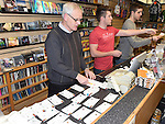 Mick Moore and his staff busy sellng One Direction tickets at CD World in the Drogheda Town Centre. Photo:Colin Bell/pressphotos.ie