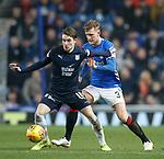 27.02.2019: Rangers v Dundee: Scott Wright and Joe Worrall
