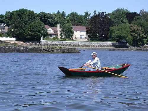 Rowing a pretty classical design pulling boat is a joy.  A beautiful sunny warm day and exercising what a combination.