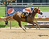 Irish Moon winning at Delaware Park racetrack on 6/5/14