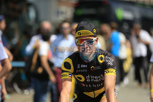 Thomas Voeckler (FRA) Direct Energie at sign on in Verviers before the start of Stage 3 of the 104th edition of the Tour de France 2017, running 212.5km from Verviers, Belgium to Longwy, France. 3rd July 2017.<br /> Picture: Eoin Clarke | Cyclefile<br /> <br /> <br /> All photos usage must carry mandatory copyright credit (&copy; Cyclefile | Eoin Clarke)