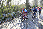 The peloton climbs Taaienberg during the 2019 E3 Harelbeke Binck Bank Classic 2019 running 203.9km from Harelbeke to Harelbeke, Belgium. 29th March 2019.<br /> Picture: Eoin Clarke | Cyclefile<br /> <br /> All photos usage must carry mandatory copyright credit (© Cyclefile | Eoin Clarke)