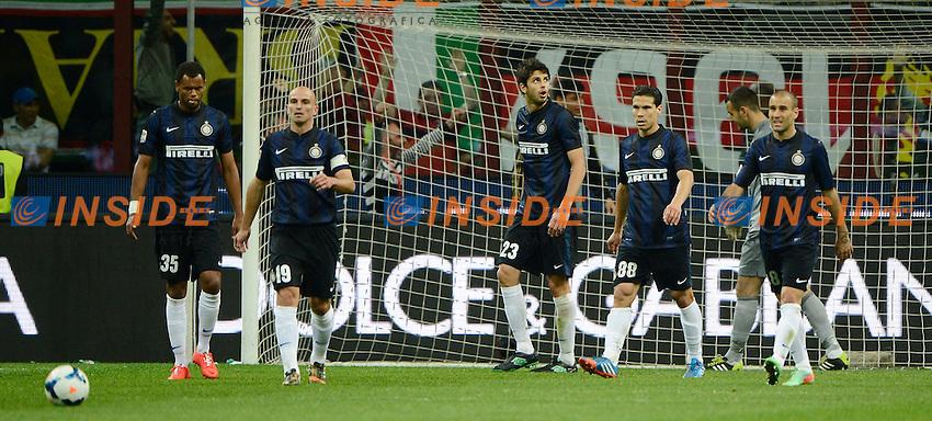 Delusione giocatori Inter<br /> Milano 04-05-2014 Stadio Giuseppe Meazza - Football 2013/2014 Serie A. Milan - Inter Foto Giuseppe Celeste / Insidefoto