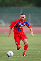 Crystal Palace defender Paul Robson (3). The New England Revolution (MLS) defeated Crystal Palace FC USA of Baltimore (USL2) 5-3 in penalty kicks after finishing regulation and overtime tied at 1-1 during a Lamar Hunt US Open Cup quarterfinal match at Veterans Stadium in New Britain, CT, on July 8, 2008.