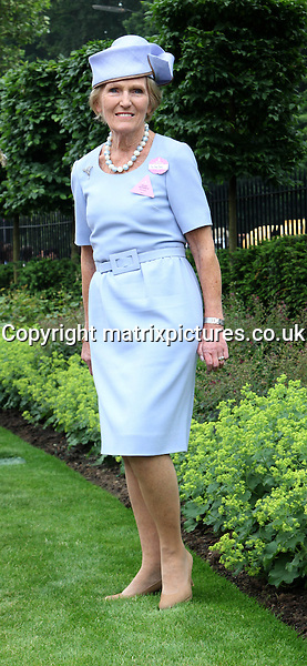 NON EXCLUSIVE PICTURE: GRAHAM READING / MATRIXPICTURES.CO.UK<br /> PLEASE CREDIT ALL USES<br /> <br /> WORLD RIGHTS<br /> <br /> English food writer and television presenter Mary Berry is pictured attending the Royal Ascot horse racing events at Ascot Racecourse in Berkshire, England.<br /> <br /> The Queen's horse 'Estimate' claimed victory in Royal Ascot's famous Gold Cup - the first time in the race's 207-year history it has been won by a reigning monarch.<br /> <br /> JUNE 20th 2013<br /> <br /> REF: GRG 134232