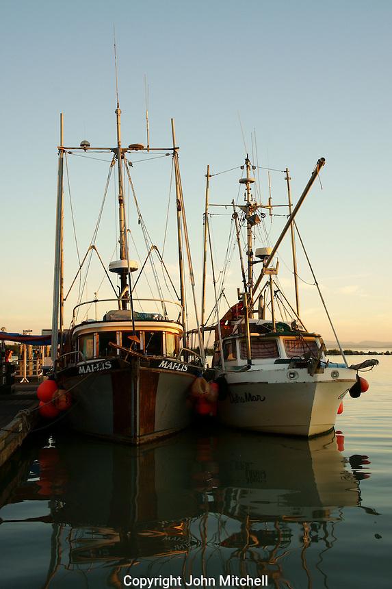Fishing boats docked in Steveston, British Columbia, Canada