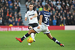 Chris Baird of Derby County and James Meredith of Millwall during the championship league match between Derby and Millwall at Pride Park Stadium, Derby. Picture date 23rd December 2017. Picture credit should read: Joe Perch/Sportimage