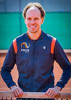 Almere, Netherlands, April 3, 2018, New clothes KSwiss for KNLTB staff,  Aldo Hoekstra<br /> Photo: Tennisimages/Henk Koster
