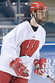 Andy Brandt - The University of Wisconsin Badgers skated Saturday morning, April 8, 2006, at the Bradley Center in Milwaukee, Wisconsin, before defeating Boston College that evening for the Title.