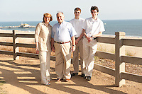 Family of Philippe and Anne-Marie Gaultier, includng sons Alexandre and Maxime.  Family portraits at Santa Monica