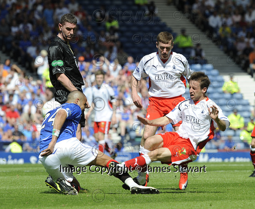 30/05/2009  Copyright  Pic : James Stewart.sct_jspa_01_rangers_v_falkirk.MADJID BOUGHERRA AND NEIL MCCANN CHALLENGE.James Stewart Photography 19 Carronlea Drive, Falkirk. FK2 8DN      Vat Reg No. 607 6932 25.Telephone      : +44 (0)1324 570291 .Mobile              : +44 (0)7721 416997.E-mail  :  jim@jspa.co.uk.If you require further information then contact Jim Stewart on any of the numbers above.........