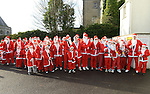Santas line up for the DRogheda Santa Run to Scotch Hall. Photo:Colin Bell/pressphotos.ie