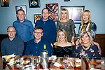 Enjoying a meal out at Croi restaurant, Tralee on Saturday night last were front l-r: Donagh Shanahan Mike Cantillon Breda Shanahan and Geraldine Slattery. Back l-r: Ger Slattery, Mike Slattery, Marie Cantillon and Veronica Slattery.