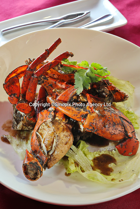 Pepper crab, one of the sdpecialities at the Jumbo Seafood chain in Singapore, in Singapore, 14 March 2015.