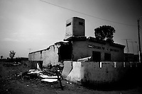 Earthquake aftermath.<br /> Police Station<br /> Independencia Peru.....