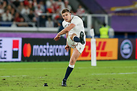 1st November 2019, Yokohama, Japan;  Owen Farrell of England takes a penalty during the 2019 Rugby World Cup final match between England and South Africa at International Stadium Yokohama in Kanagawa, Japan on November 2, 2019.
