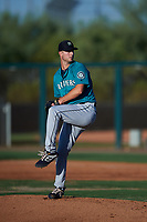 AZL Mariners relief pitcher Robert Winslow (40) during an Arizona League game against the AZL D-backs on July 3, 2019 at Salt River Fields at Talking Stick in Scottsdale, Arizona. The AZL D-backs defeated the AZL Mariners 3-1. (Zachary Lucy/Four Seam Images)