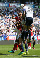 Bolton Wanderers' David Wheater heads wide of the goal<br /> <br /> Photographer Andrew Kearns/CameraSport<br /> <br /> The EFL Sky Bet Championship - Bolton Wanderers v Nottingham Forest - Sunday 6th May 2018 - Macron Stadium - Bolton<br /> <br /> World Copyright &copy; 2018 CameraSport. All rights reserved. 43 Linden Ave. Countesthorpe. Leicester. England. LE8 5PG - Tel: +44 (0) 116 277 4147 - admin@camerasport.com - www.camerasport.com