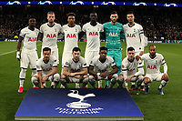 Tottenham Hotspur line up before Tottenham Hotspur vs RB Leipzig, UEFA Champions League Football at Tottenham Hotspur Stadium on 19th February 2020
